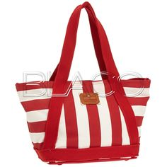 Tommy Hilfiger The Tommy Stripe Small Tote Tango Red/White