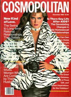 Brooke Shields by Francesco Scavullo for Cosmopolitan December, 1985.