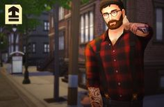 Marvin Sims: Suspender Shirts • Sims 4 Downloads