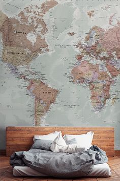 Classic world map wallpaper stylish map mural muralswallpaper classic world map wallpaper stylish map mural muralswallpaper gumiabroncs Gallery