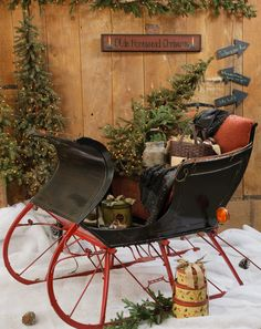 Would love to find a vintage sleigh like this
