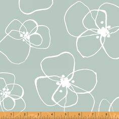 Blomster Flowers in Mint Green, by Lotta Jansdotter  http://www.maigocute.com/collections/modern-fabric/products/blomster-in-mint-mormor-collection-lotta-jansdotter-fabric