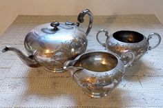 Vintage Tea Service / Early 1900s Silver Plated by SmallbonesJane