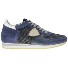 Philippe Model Sneakers ($225) ❤ liked on Polyvore featuring men's fashion, men's shoes, men's sneakers and blue