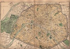 Old Map of Paris - 1888 - The Graphics Fairy