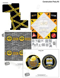 Construction Party Kit