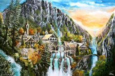 Rivendell Oil-Painting Aronja Art