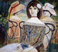 Mujeres sentadas, 1990 Virgilio Trompiz