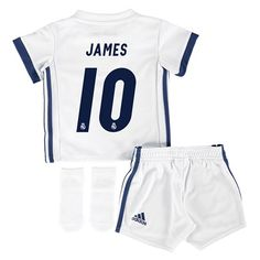 Real Madrid Home Jersey 2016/17 - Baby - with James 10 printing: With advanced climalite® technology… #RealMadridShop #RealMadridStore