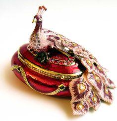 Pillbox Rocking Horse Vintage tin jewelry box antique jewelry box Faberge