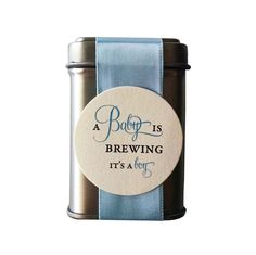 DIY A Baby Boy is Brewing Shower Favors Includes Tea - sets of 9