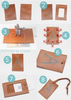 DIY Leather Luggage Tag - perfect for Father's Day
