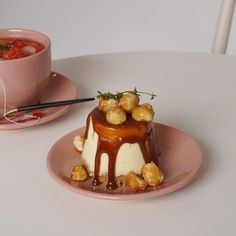 Image about dessert in 美味しい by myprettylittlethings ♡ I Love Food, Good Food, Yummy Food, Aesthetic Food, Aesthetic Pastel, Cafe Food, Macaron, Dessert Recipes, Desserts