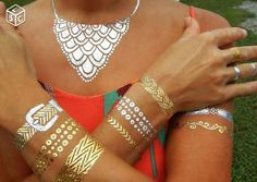 Beautiful, cool and sexy with temporary tattoos jewelry for all skin colors for all occasions ;)