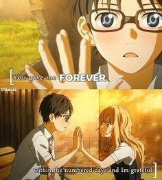 13 Your Lie in April Quotes On Sadness, Love and Beauty! Sad Anime Quotes, Sad Quotes, Life Quotes, Hikaru Nara, April Quotes, Miyazono Kaori, Your Lie In April, Postive Quotes, Anime People