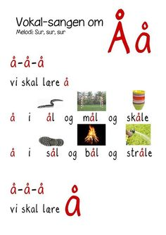 Billedresultat for vokalsang Speak Danish, Abc Sounds, Primary School, Speech Therapy, Kids Learning, Norway, Literacy, Kindergarten, Singing