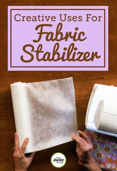 Fabric stabilizer is a great product when it comes to machine embroidery, but it can have many other uses too! Watch as Ellen March explains some of her creative uses for fabric stabilizer, including applique and pattern templates. Whether it's wash-away, tear-away or cut-away fabric stabilizer, applying it to the wrong side of fabric when doing applique can make the process much easier by keeping the fabric flat.