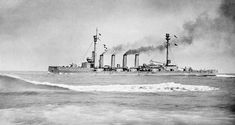 Armoured cruiser HMS Warrior - critically damaged at Jutland in 1916 (and only saved from outright destruction by the out of control battleship HMS Warspite suddenly presenting a more attractive target), she foundered under tow by the seaplane carrier HMS Engadine whilst en route home.