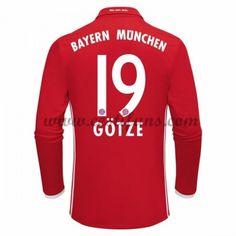 Bayern Munich Fotbalové Dresy 2016-17 Gotze 19 Domáci Dres Dlouhým Rukávem
