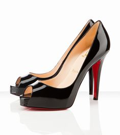 Christian Louboutin Very Prive 120mm Black Patent Leather (more @ boards here :  http://pinterest.com/fra411)