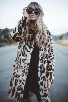 Coat - Revolve | Leggings - Nasty Gal | Sweater - Nasty Gal | Booties - Marc Fisher Ltd Yale Chelsea Boot via Nordstrom | Sunnies - Karen Walker NumberOne via Revolve