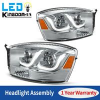 For 2002 2005 Dodge Ram 1500 2500 3500 Truck Led Drl Projector Headlights Lamps In 2020 Dodge Ram 1500 Dodge Ram Projector Headlights
