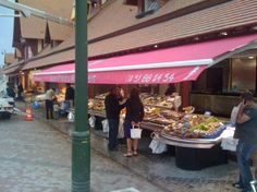 Trouville-sur-Mer, France: fish Market up and running July 2011