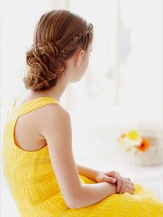 I don't think my girls hair will ever be long, or thick enough, but isn't this beautiful? 15 Pretty, Easy-to-Do Hairstyles for Your Little Girl's Long Hair | iVillage.ca