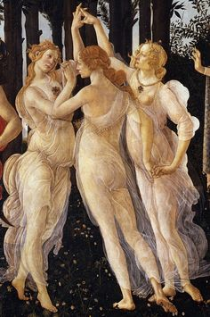 """Allegory of Spring"" by Sandro Botticelli (Florence, 1445-1510), detail. www.italianways.com/botticelli-and-his-spring-beyond-time-and-space/"