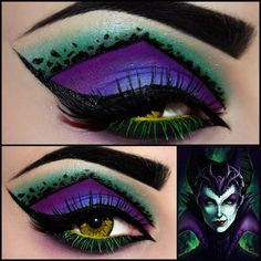 Maleficent from Sleeping Beauty make-up #halloween #younique #loveourmakeup