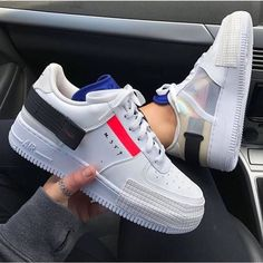 Shop Women's Nike White Black size Various Sneakers at a discounted price at Poshmark. Description: Brand new in box Authentic! 🤍 Size = size women's Size = size 8 women's. Nike Air Force, Nike Shoes Air Force, Air Force Sneakers, Moda Nike, Sneakers Fashion, Shoes Sneakers, Aesthetic Shoes, Hype Shoes, Fresh Shoes