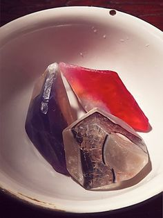 Soap Rocks | These gorgeous and beautifully scented soaps show their true colors in water. Use as a makeup remover, shaving cream, or actual soap. Designed to cleanse while preserving your skin's precious oils, often there's no need for additional moisturizers. Over 180 steps go into making each SoapRock. American made.