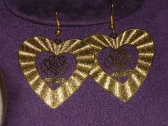 New Gold Tone Heart Shaped Earrings 4.99 Free and Fast Shipping $4.99