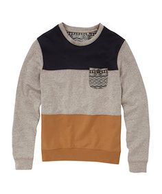Grey Cut and Sew Block Panel Jumper - New Look price:   £19.99