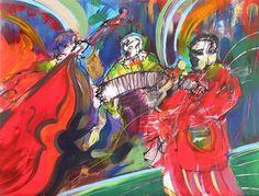 Leandro Manzo Tango Series - Trio 17.5 x 23 in