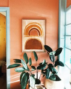 37 Ideas For Living Room Blue Orange Paint Colours Orange Paint Colors, Room Paint Colors, Paint Colors For Living Room, Earth Tone Decor, Earth Tone Bedroom, Brick Art, Peach Walls, Photo Deco, Living Room Red