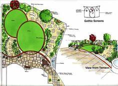 Garden Design Examples example of a garden plan – triangular shaped garden. | ideas for