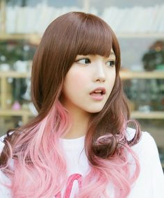 ombre pink hair omg i love this!