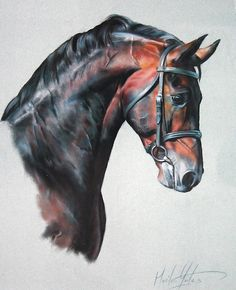 Fuego II Greeting Cards & Postcards by Melissa Mailer-Yates- horse painting - love it