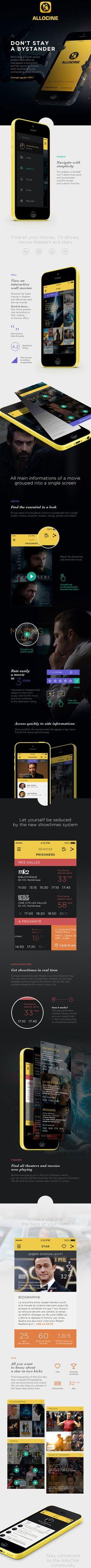 AlloCine – Concept Mobile app