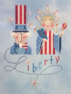 Liberty Cross Stitch | So cute.  You are just an amazing stitcher Cindy and I've missed you big time - my fault