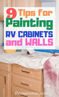 9 Tips for Painting RV Walls and Cabinets Learn from the experience of others who have painted inside their camper or motorhome so you can avoid potential problems and end up with a result you're happy with. Diy Camper, Camper Life, Rv Life, Camper Storage, Camper Van, Rv Cabinets, Paint Rv, Trailer Decor, Small Campers