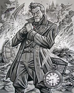 this is one of my older toons i drew back in 2008 as part of a collection of doctor who companions.i never got round to posting them in my gallery back then but seeing as it is doctor who's 5...