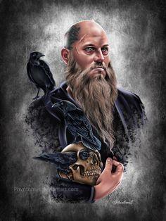Ragnar Lothbrok , Phvntomv $ on ArtStation at https://www.artstation.com/artwork/OXG4K
