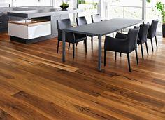 Mafi tiger oak flooring black brushed natural oil. Plancher Mafi de chene tiger noir brossé huilé naturel.
