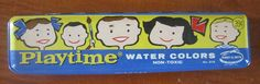 Vintage School Supplies  -1960s  Playtime Water Colors