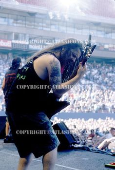 Pantera with Guitarist Dimebag Darrell Abbott performs at Ozzfest 1997