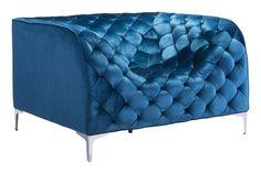 Providence Arm Chair Blue Velvet