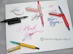 Calligraphy Practice by carmelscribe, via Flickr...cocoiro letter pen...must try this out