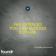 I think what this quote really means is be prepared to try as many things as possible. The most successful entrepreneurs ship very fast. It's all about speed of implementation. Some things fail! Want a good example? Only 8 people bought the foundr t-shirts and over 150 people commented and told us they wanted them. We tested we implemented fast and learnt you guys aren't interested in buying t-shirts! End of story!  If you like this quote tag a friend that needs to see this and double tap…